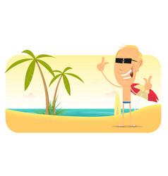 Summer beach vacations banner vector