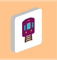 train tram computer symbol vector image
