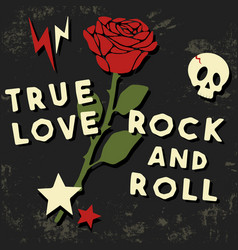 true love t shirt print vector image