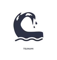 Tsunami icon on white background simple element vector