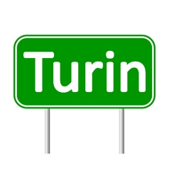 Turin road sign vector