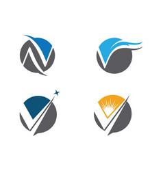 V letter logo business template vector