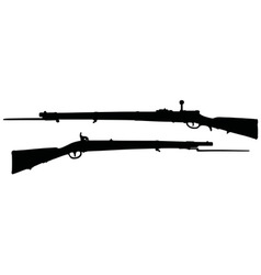Vintage military rifles vector