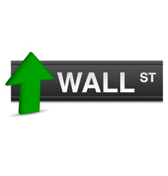 Wall street stock market vector
