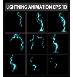 web lightning animation game of vector image