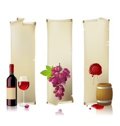 wine banners vector image