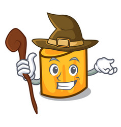 Witch rigatoni mascot cartoon style vector