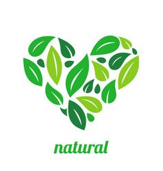 tree logo heart shape design template vector image