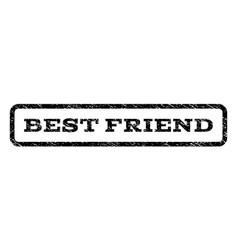best friend watermark stamp vector image