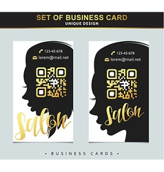 Design Template business card for beauty salon vector image vector image