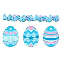 Easter egg set vector image