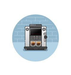 icon of coffee machine vector image