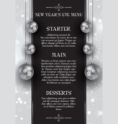 New years eve menu design vector