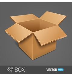 Opening cardboard box EPS 10 vector image vector image