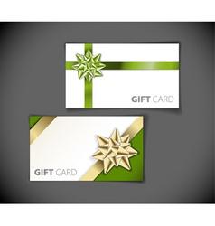Set of modern gift card templates vector