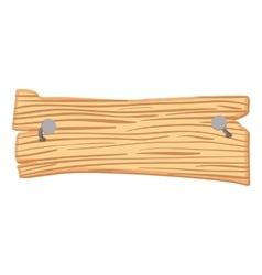 Wooden cartoon sign vector image vector image