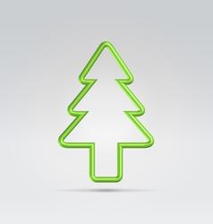 wire fur tree xmas symbol vector image