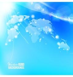 Blue image of globe Globalization concept vector image