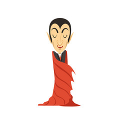count dracula vampire wrapped in a cloak vector image