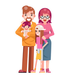family concept cute happy young mother father vector image vector image