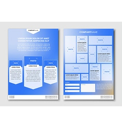 flyer design with blurred background vector image