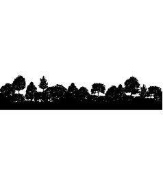 forest trees silhouettes natural wild landscape vector image