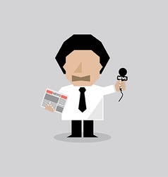 Reporter Man vector image
