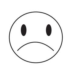 thin line sad emoticon icon vector image vector image