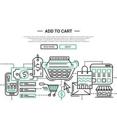 Add to cart - line design website banner template vector
