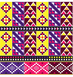 African tribal kente cloth style pattern vector