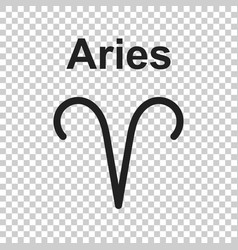 aries zodiac sign flat astrology on isolated vector image