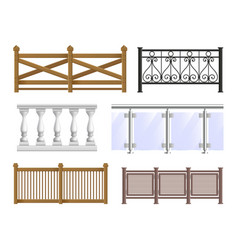 Balcony fence set vector