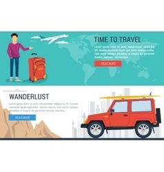 Banner - time to travel vector