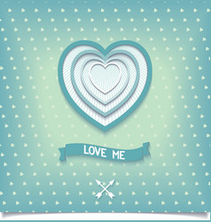 Beautiful retro design heart love me vector