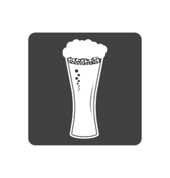 beer in glass icon Simple vector image