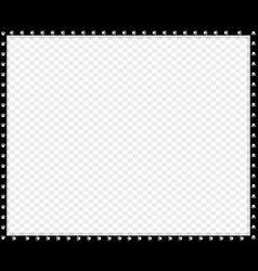 black and white rectangle border made animal vector image