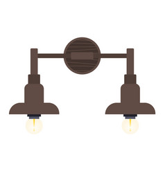 Bra or chandelier mounted on wall light fixture vector