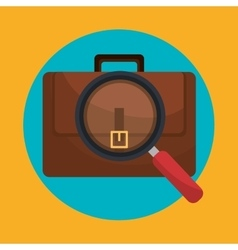 Business briefcase icon graphic vector image