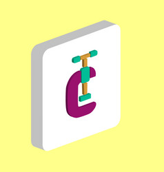 clamping vice computer symbol vector image