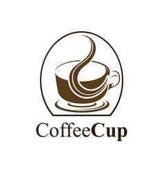 coffee cup logo concept design symbol graphic vector image