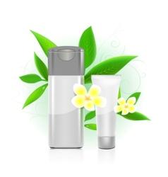 cosmetics bottles vector image