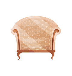 cozy armchair with beige trim wooden chair vector image
