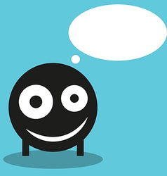 Cute monster with speech balloon vector image