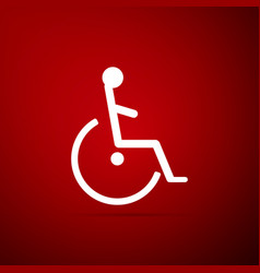 disabled handicap icon isolated on red background vector image