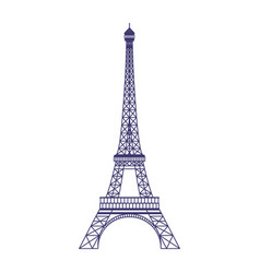 eiffel tower icon in flat design vector image