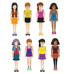 Faceless ladies wearing fashionable dresses vector