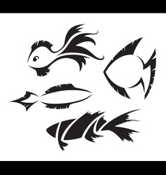 Fish symbols vector