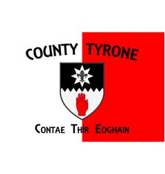 Flag county tyrone in ulster ireland vector