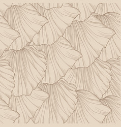 Floral seamless pattern of engraved flower petals vector