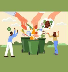 Food waste concept vector